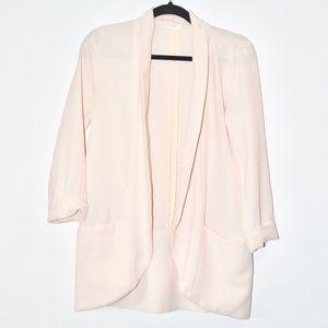 ••lush baby pink longline blazer cardigan••